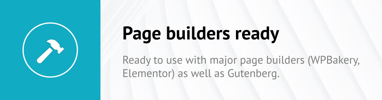 Page builders ready