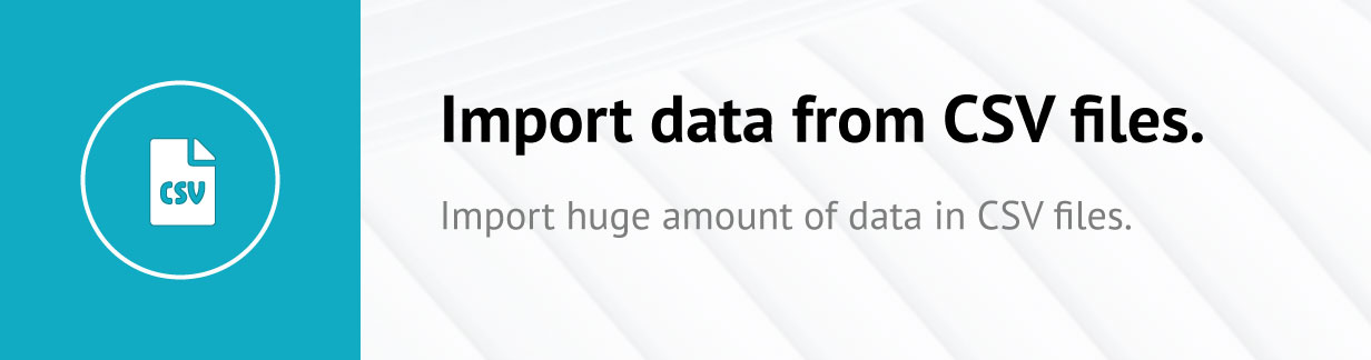 Import CSV file